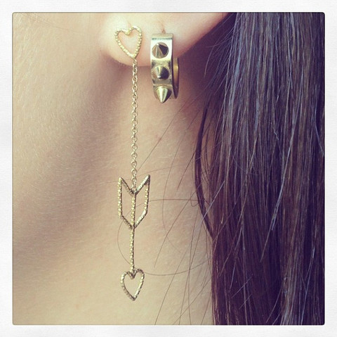 Earrings from the 'Show Me How' collection.