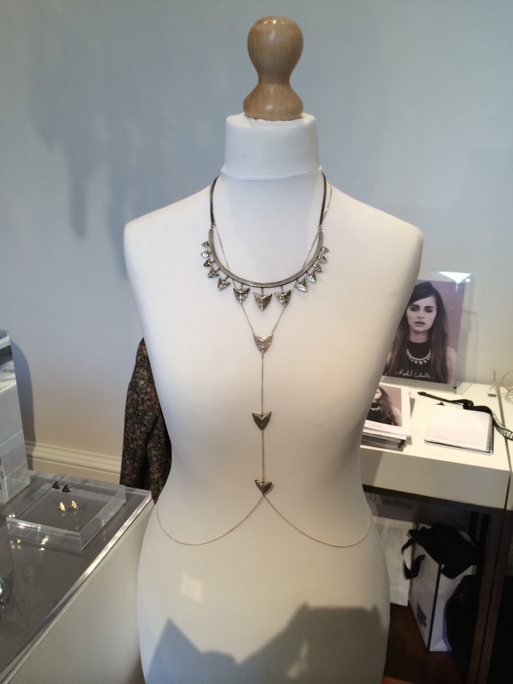 Modern Primitive necklace and chain by Rachel Entwistle.