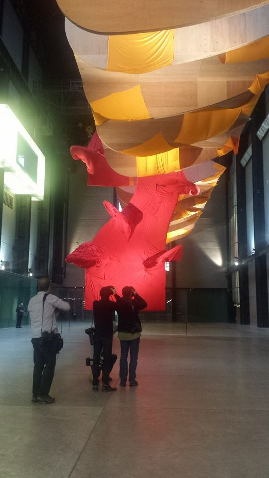 Tate Modern - Sculpture at the Turbine Hall by Richard Tuttle 2014