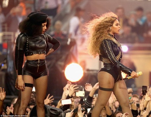 Beyonce's 2016 controversial Superbowl performance could be seen as far more influential and political.