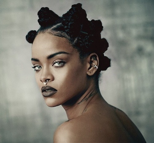 Pop singing sensation Rihanna.